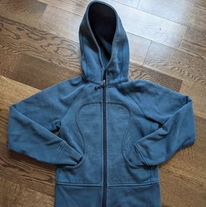 Vintage Lululemon Women's Blue Hoodie